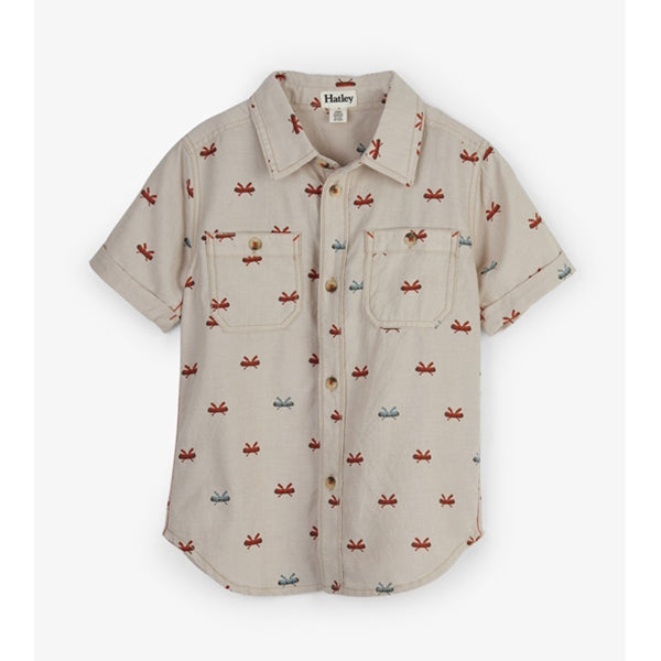 Hatley -  Tiny Canoes SS Button Down Shirt