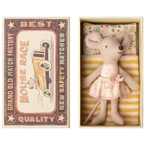 Maileg - Little Sister Mouse in Box - Polka Dot Dress