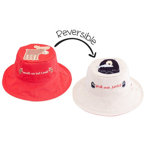 FlapJackKids - Reversible Sun Hat - Moose/Black Bear