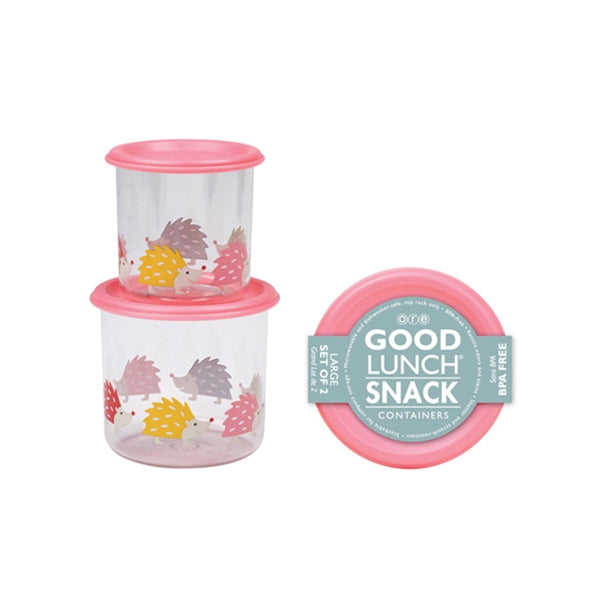 Ore - Good Lunch Snack Containers Large Set-of-Two - Hedgehog