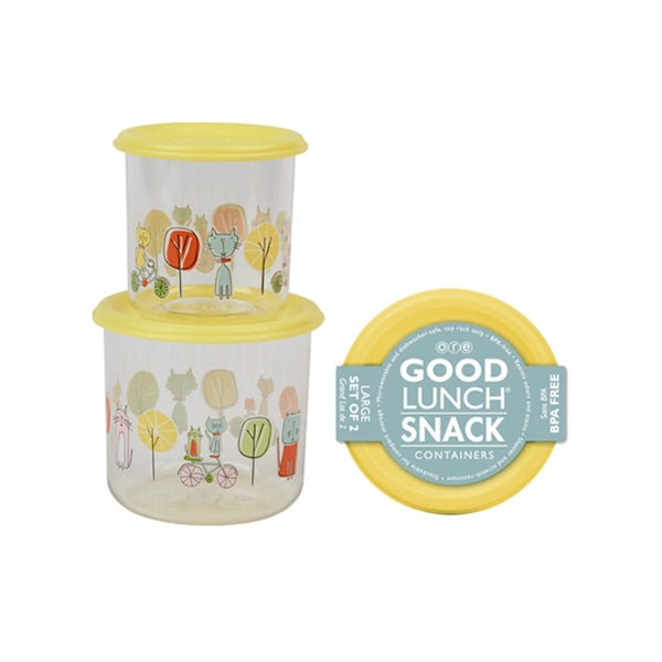 Ore - Good Lunch Snack Containers Large Set-of-Two - Go Kitty Go