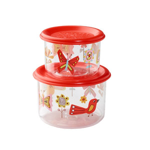 Ore - Good Lunch Snack Containers Small Set-of-Two - Birds and Butterflies