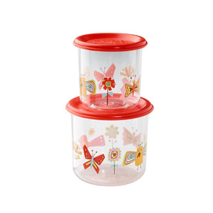 Ore - Good Lunch Snack Containers Large Set-of-Two - Birds and Butterflies