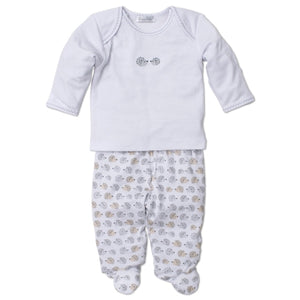 Kissy Kissy - Humble Hedgehogs - Footed Pant Set
