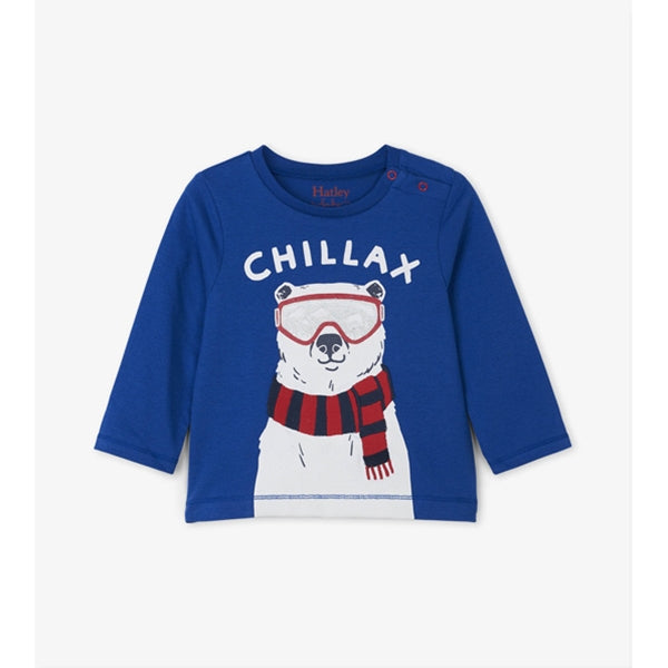 Hatley - Chill Bear Long Sleeve Baby Tee