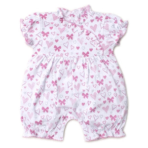 Kissy Kissy - Hearts Abound - Print Short Playsuit