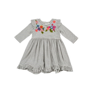 Mimi and Maggie - Sunshine Flowers Dress - Grey