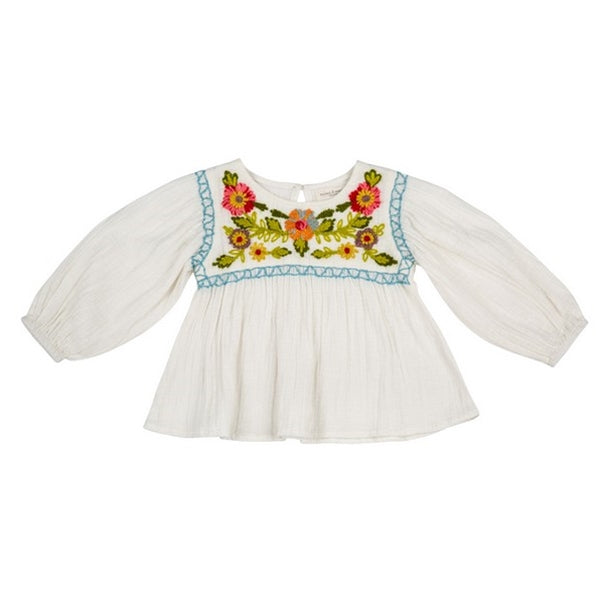 Mimi and Maggie - Craft Flowers Peasant Top
