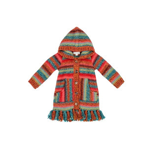 Mimi and Maggie - New Mexico Desert Fringe Sweater