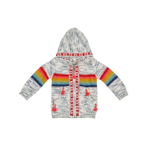 Mimi and Maggie - Rainbow Stripe Sweater Hand Embroidery