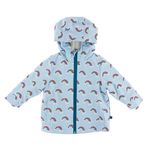 Kickee Pants - Print Sherpa Lined Raincoat - Pond Rainbow