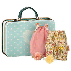 Maileg - Micro, Suitcase with 2 Dresses for Girl