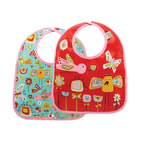 Ore - Mini Bib Gift Set-of-Two - Birds and Butterflies