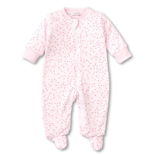 Kissy Kissy - Sweethearts - Print Footie W/ Zipper - Pink