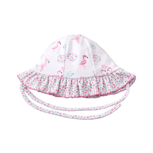 Kissy Kissy - Flowering Flamingos - Reversible Floppy Hat - Pink