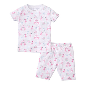 Kissy Kissy - Flowering Flamingos - Print Short Pj Set - Snug Fit - Pink
