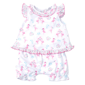 Kissy Kissy - Flowering Flamingos - Sunsuit Set - Pink