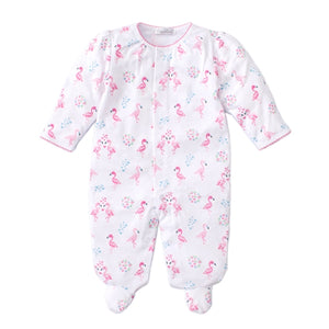 Kissy Kissy - Flowering Flamingos - Print Footie - Pink