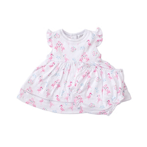 Kissy Kissy - Flowering Flamingos - Print Dress Set - Pink