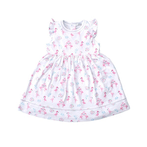 Kissy Kissy - Flowering Flamingos - Print Dress - Pink