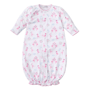 Kissy Kissy - Flowering Flamingos - Print Converter Gown - Pink