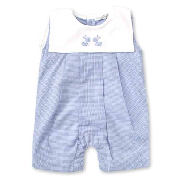 Kissy Kissy - Pique Baby Bunnies - Slvless Playsuit With Collar - Light Blue