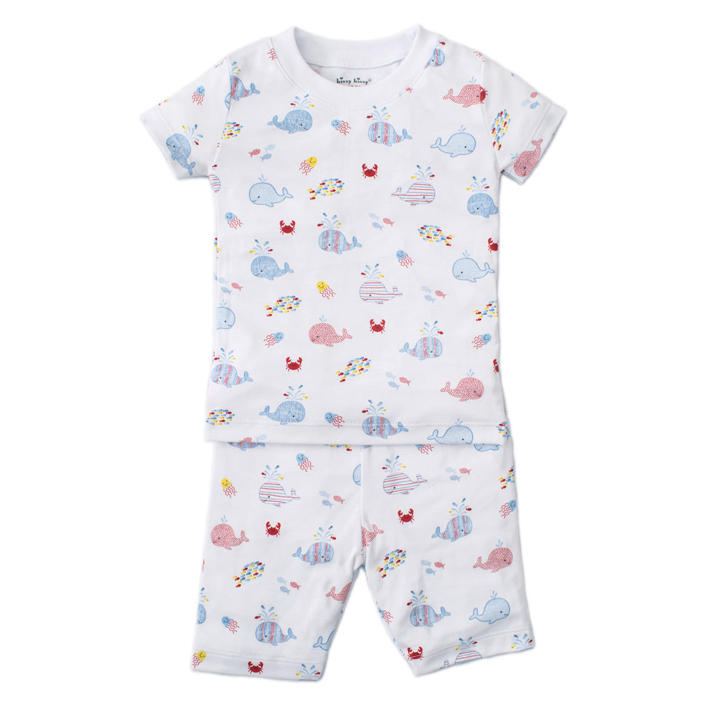 Kissy Kissy - Whale Of A Time - Print Short Pj Set - Snug Fit - Blue