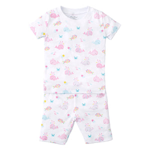 Kissy Kissy - Whale Of A Time - Print Short Pj Set - Snug Fit - Fuchsia
