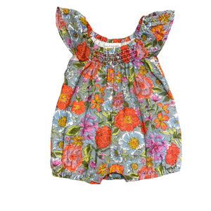 Mimi and Maggie - Peony Baby Romper