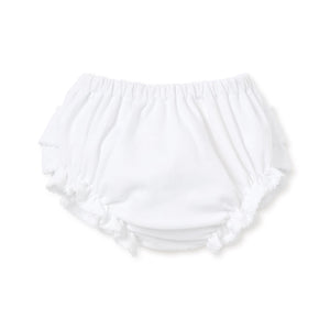 Kissy Kissy - Basic Diaper Cover with Ruffle - White