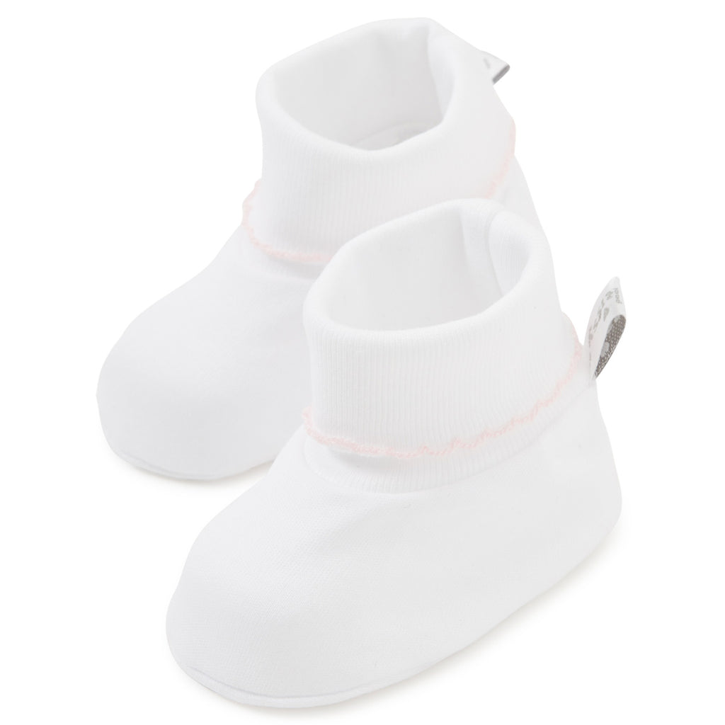 Kissy Kissy - Basic Booties - White Pink