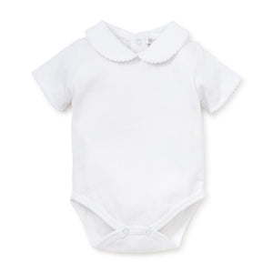 Kissy Kissy - Basic SS Bodysuit Bebe Collar - White