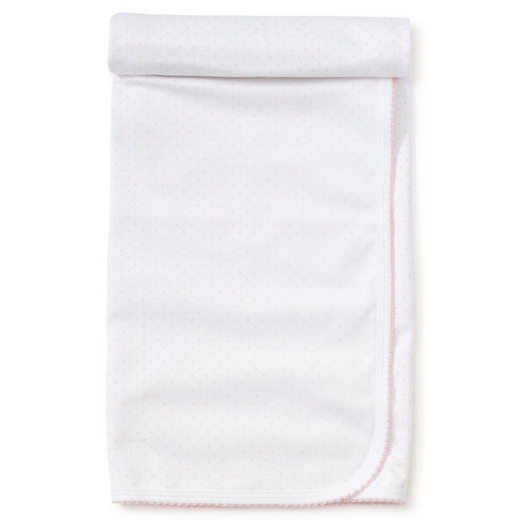 Kissy Kissy - New Kissy Dots Blanket - White with Pink
