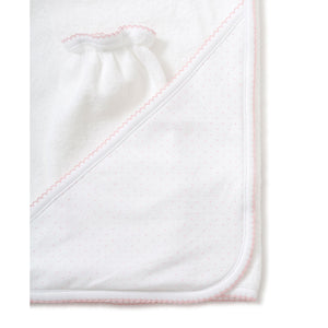 Kissy Kissy - New Kissy Dots Towel with Mitt - White with Pink