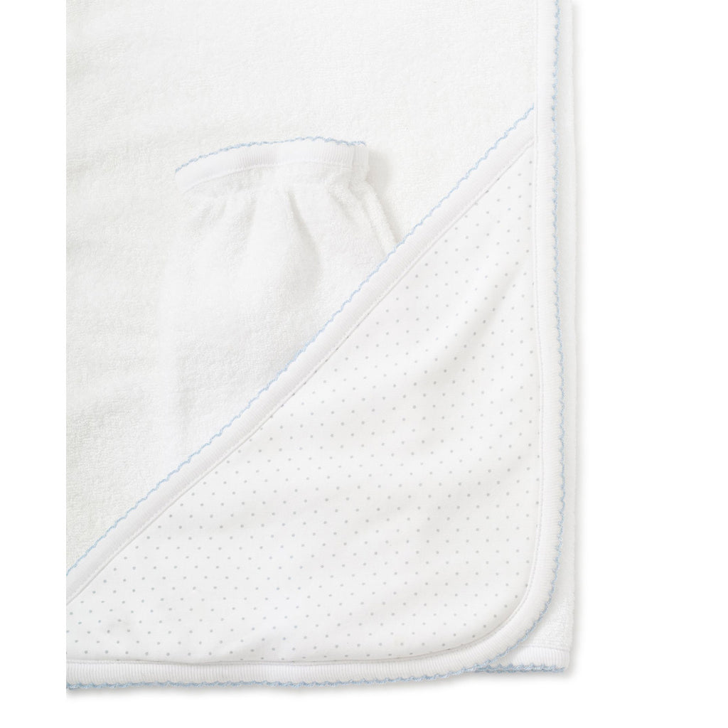 Kissy Kissy - New Kissy Dots Towel with Mitt - White with Blue