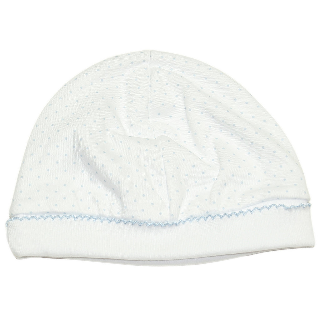 Kissy Kissy - New Kissy Dots Hat - White with Blue