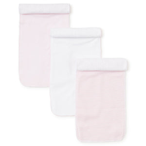 Kissy Kissy - Sets 3 Pack Burp - Pink Stripe