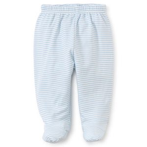 Kissy Kissy - Simple Stripes Footed Pant - Blue