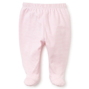 Kissy Kissy - Simple Stripes Footed Pant - Pink
