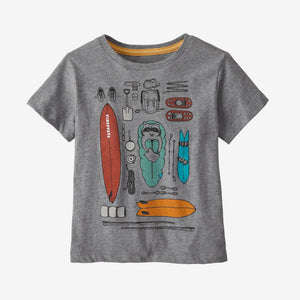 Patagonia - Baby Graphic Organic T-Shirt - Gravel Heather