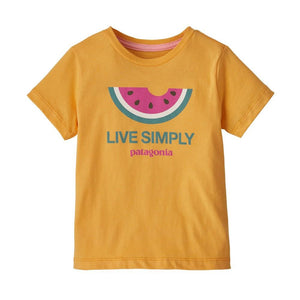 Patagonia - Baby Live Simply Organic T-Shirt - Saffron
