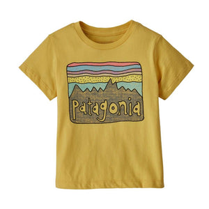 Patagonia - Baby Fitz Roy Skies Organic T-Shirt - Surfboard Yellow