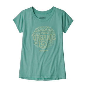 Patagonia - Girls' Graphic Organic T-Shirt - Light Beryl Green