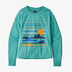 Patagonia - Girls' Lightweight Crew Sweatshirt - Summit Static: Light Beryl Green