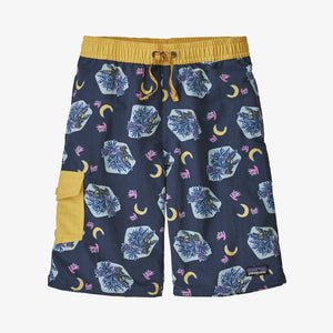 Patagonia - Boys' Baggies™ Boardshorts - Gators After Dark: Stone Blue