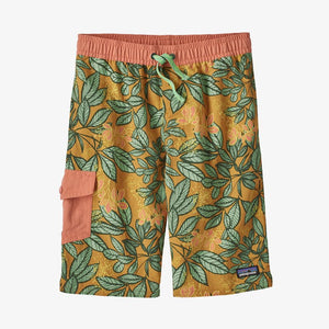 Patagonia - Boys' Baggies™ Boardshorts - Hevea Leaves Big: Prairie Gold