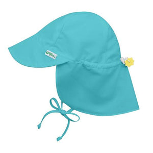 Green Spouts - Flap Sun Protection Hat - Aqua