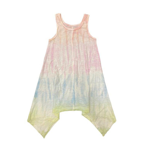 Mimi and Maggie - Rainbow Stripe Hand Dyed Dress