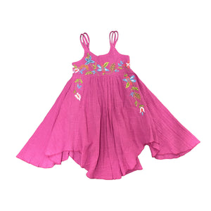 Mimi and Maggie - Flower Trail Dress - Fuschia