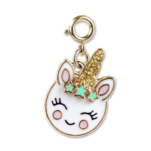 CHARM IT! - Gold Unicorn Smiley Charm
